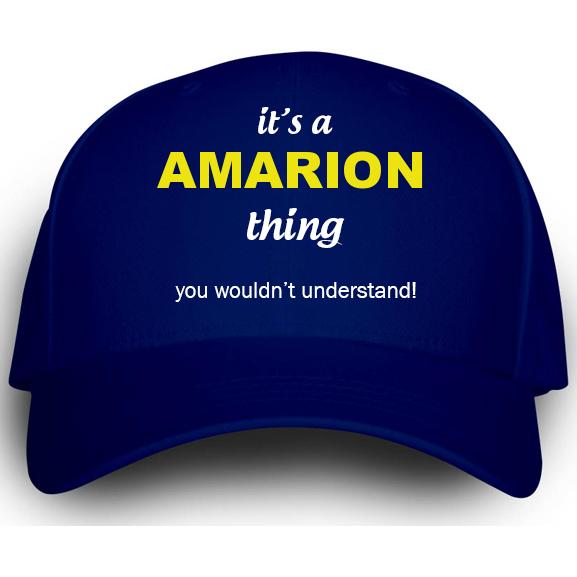 Cap for Amarion