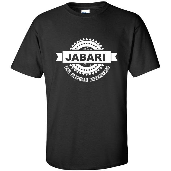 t-shirt for Jabari
