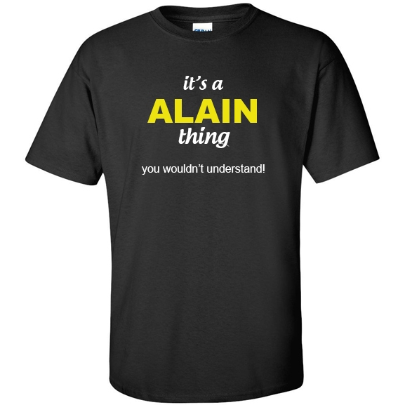 t-shirt for Alain