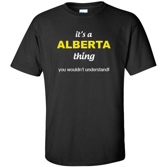 t-shirt for Alberta