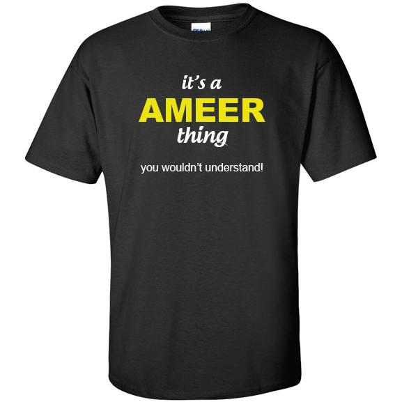 t-shirt for Ameer