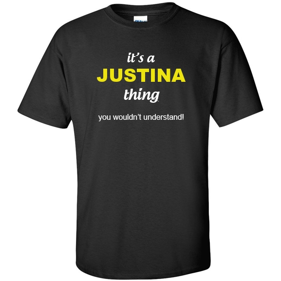 t-shirt for Justina
